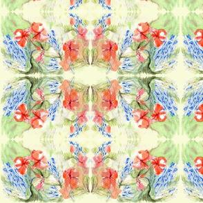 Balsam & Lobelia Flowers by Alexandra Cook