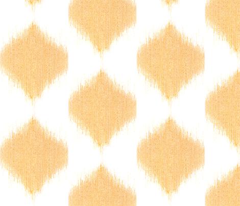 "IKAT TEARDROPS in ""TANGERINE"" fabric by trcreative on Spoonflower - custom fabric"