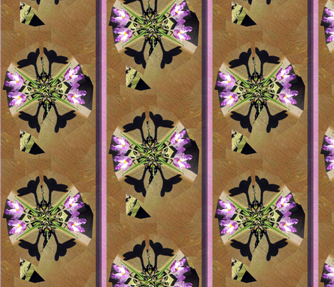 Crocus & Wood Collage by Alexandra Cook fabric by linandara on Spoonflower - custom fabric