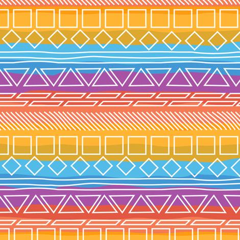 Native Sunrise fabric by wildnotions on Spoonflower - custom fabric
