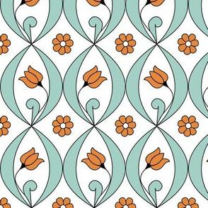 Tulip - medallions in undulating rows