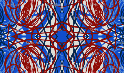 red blue grid