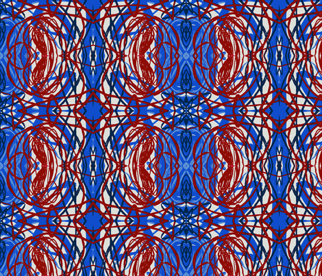 red blue grid fabric by heikou on Spoonflower - custom fabric