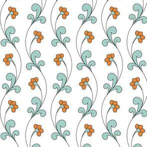 Undulating strands of beautiful flowers