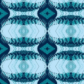 Geometric Pattern Blue