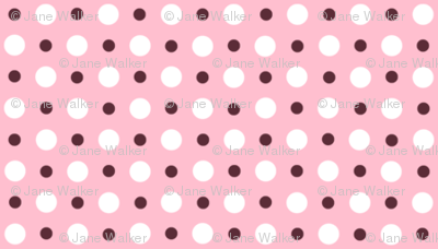 My Garden Dots Coordinate Rose Pink ©2011 by Jane Walker