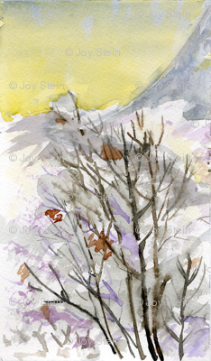 Winter Tree Watercolor