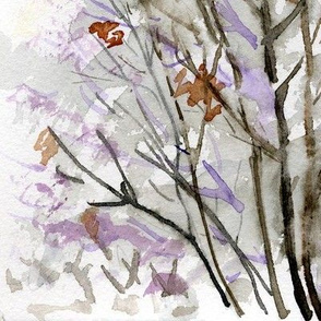 Winter Tree Watercolor