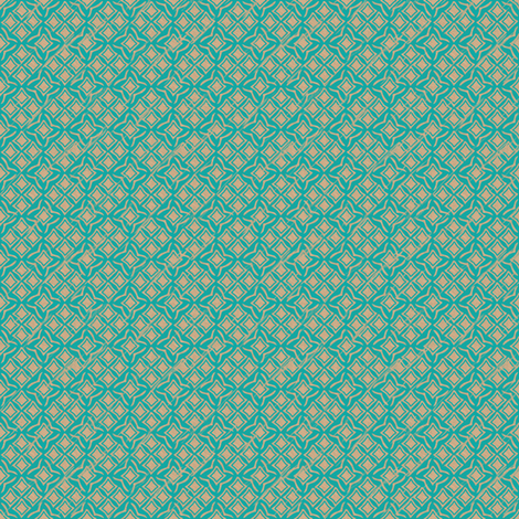 tiles teal fabric by glimmericks on Spoonflower - custom fabric