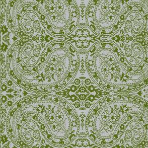paisley green-grey