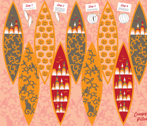 Creepy Pillow fabric by nerida_jeannie on Spoonflower - custom fabric