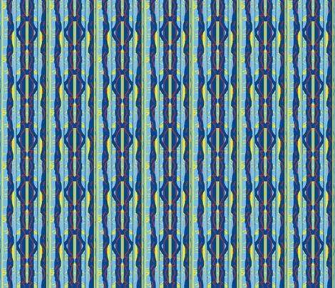 Red-Bead Blue Stripe III fabric by robin_rice on Spoonflower - custom fabric