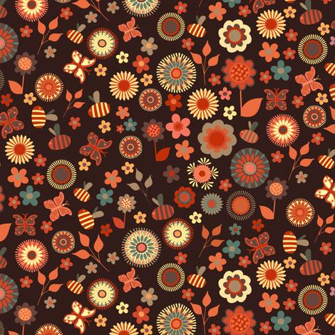 Ditsy Garden fabric by kezia on Spoonflower - custom fabric
