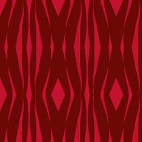 ribbons of rhythm-in red and brown