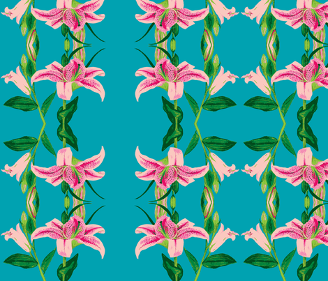 Asiatic Lily 8color fabric by painter13 on Spoonflower - custom fabric