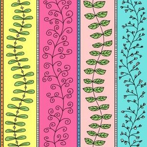 Vines and Branches Stripes (Multi)