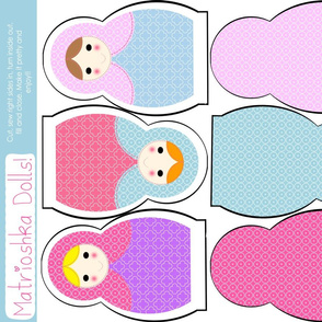 Fat Quarter Matrioshka Dolls