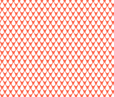 Happy Rain Coral fabric by natitys on Spoonflower - custom fabric