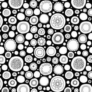 Black & White Polka Dots