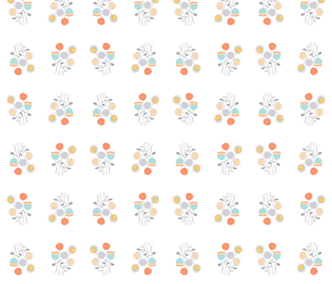 Flower Bunches fabric by meg56003 on Spoonflower - custom fabric