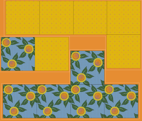 Giftbox - Sunflower fabric by glimmericks on Spoonflower - custom fabric