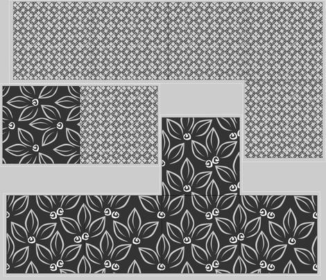 Giftbox - Dark Leaves fabric by glimmericks on Spoonflower - custom fabric