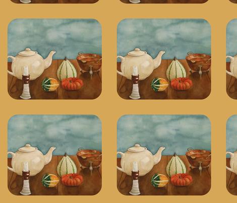 Autumn Table -Sand  fabric by painter13 on Spoonflower - custom fabric