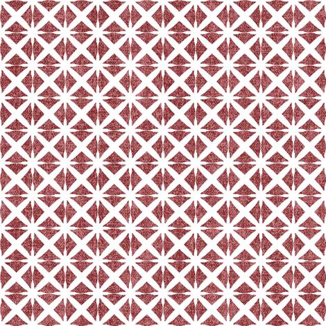 Linen Look Stars - Cherry fabric by kristopherk on Spoonflower - custom fabric