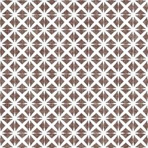 Linen Look Stars - Cinnamon