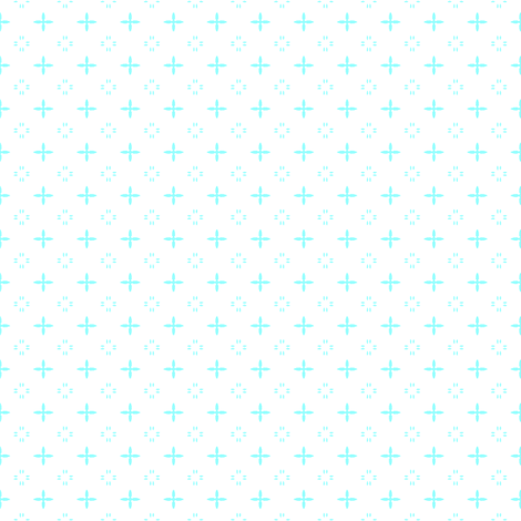 Ditsy print in a rich pale turquoise on white fabric by bargello_stripes on Spoonflower - custom fabric