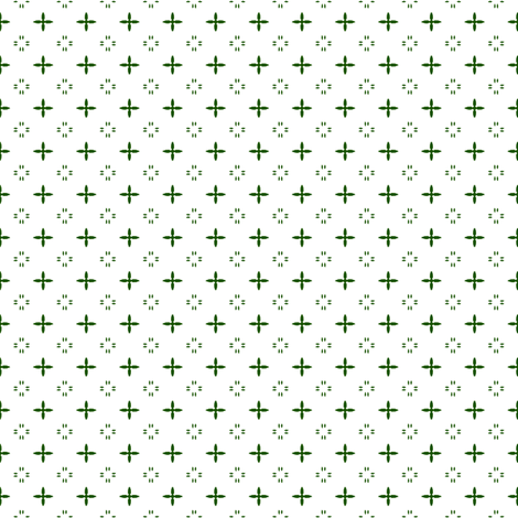 Ditsy print in a emerald on white fabric by bargello_stripes on Spoonflower - custom fabric