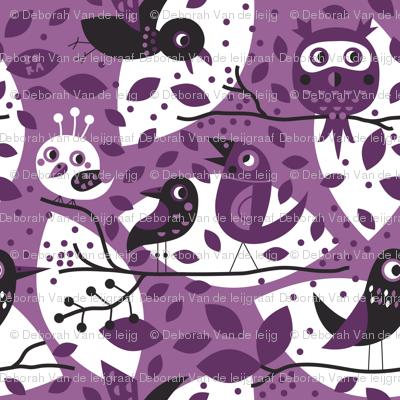 Birds in purple