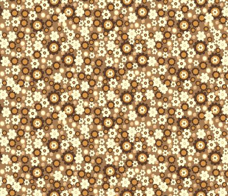 vintage flower fabric by mondaland on Spoonflower - custom fabric