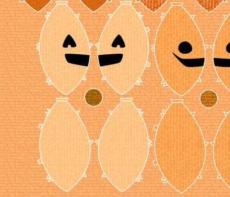 Five Little Pumpkins fabric by leighr on Spoonflower - custom fabric