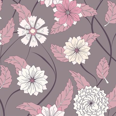 Twisting Floral fabric by kezia on Spoonflower - custom fabric