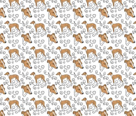 Italian Greyhound Elegance fabric by rusticcorgi on Spoonflower - custom fabric
