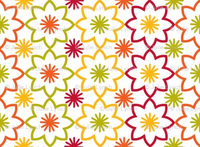 Flower star white