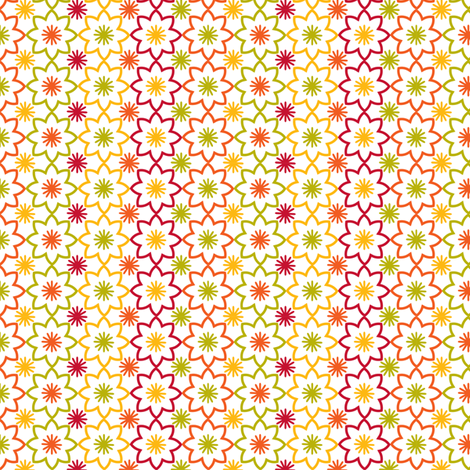 Flower star white fabric by cjldesigns on Spoonflower - custom fabric