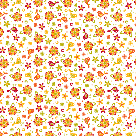 Happy little ditsy fabric by cjldesigns on Spoonflower - custom fabric