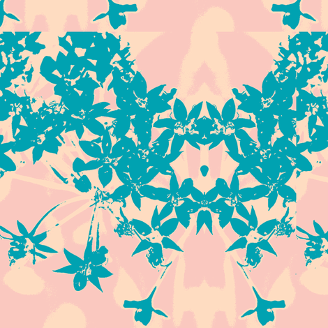 TurquoiseCluster fabric by spazoodle on Spoonflower - custom fabric