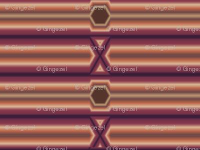 Broken Horizontal Stripe in wine and chocolate © Gingezel™ Inc. 2011