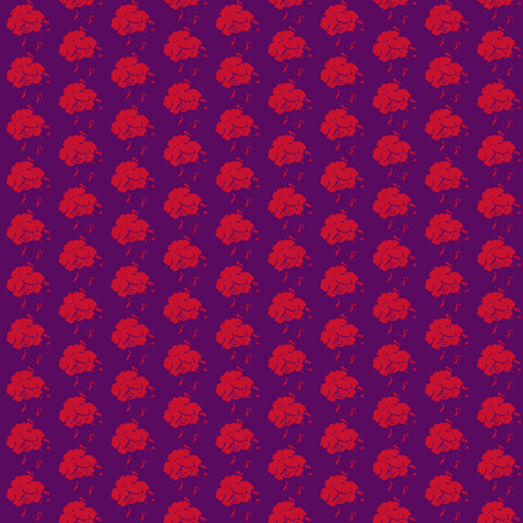 Rose plum-cherry-small fabric by miss_blümchen on Spoonflower - custom fabric
