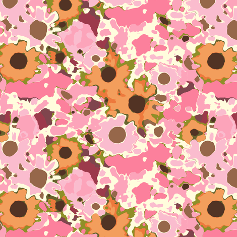 Claude's Autumn Berry Floral fabric by inscribed_here on Spoonflower - custom fabric
