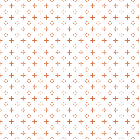 Ditsy print in a coral on white fabric by bargello_stripes on Spoonflower - custom fabric