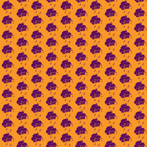 Rose -curry-plum-small fabric by miss_blümchen on Spoonflower - custom fabric