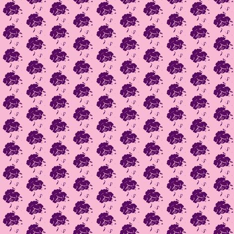 Rose icecream-plum-small fabric by miss_blümchen on Spoonflower - custom fabric