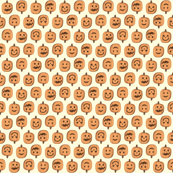 Happy Little Pumpkin Heads - Autumn Orange