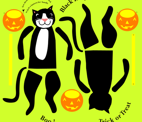 black_cat_pattern fabric by dale_coykendall on Spoonflower - custom fabric