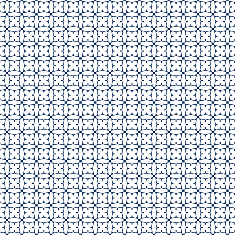 Circles and squares in navy on white fabric by bargello_stripes on Spoonflower - custom fabric