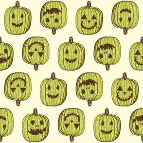 Happy Little Pumpkin Heads - Autumn Green